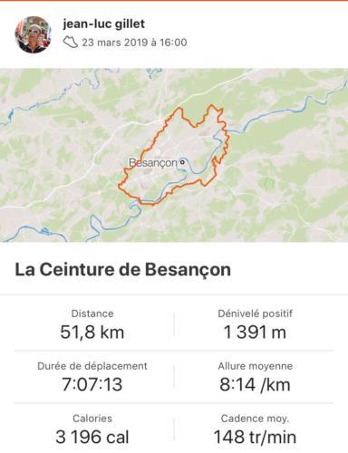Ceinture de Besançon mars 2019